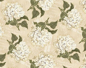 Wilmington Prints - Vintage Garden - Packed Floral - Cream - Fabric by the Yard 14589-227