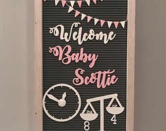 Birth Announcement Set for Letterboards