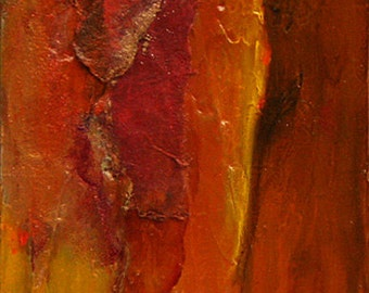 """Oil painting original southwest abstract landscape Jan Smiley 4""""x6"""" wrap around canvas"""