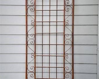 Large Wall Trellis, Garden Trellises, Lattice, Espalier, Ironwork,  Victorian Garden Trellis