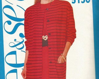 Butterick 5150 See & Sew Jacket and Dress Pattern SZ 12-16