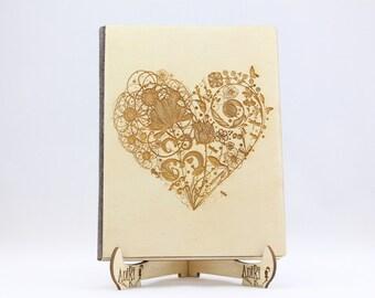 Guest Book Heart, Love Heart Guestbook, Wedding Wood Guest Book, Wood Alternative Guest Book, Engraved Guestbook, Unique Guest Book, Wooden