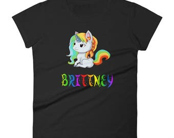 Brittney Unicorn Ladies T-Shirt