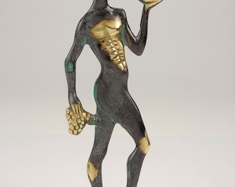 God Dionysos, Bronze Sculpture, Metal Art Sculpture, Museum Quality Art, Greek Mythology, Statue of Dionysos God of the grape harvest