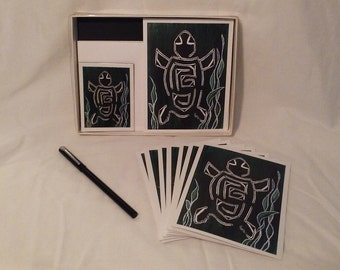 Gift Pack - Turtle Notecards, Magnet & Pen