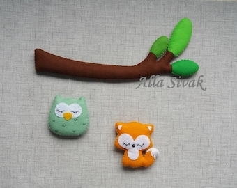 Forest baby mobile, Woodland baby mobile, Forest woodland themed, Woodland Baby Shower, Woodland Decor, Woodland Creatures, Forest nursery