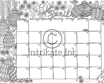 October 2017 Coloring Page Calender Planner Oct Doodle