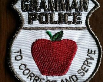 Grammar police patch