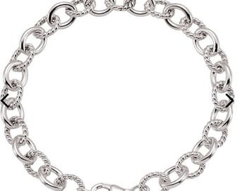 """Sterling Silver Link 7.5"""" Chain"""