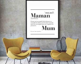 """Affiche définition """" Maman """""""