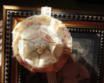 Fabric Flower Headband, Baby Barrettes, Baby Girl Hair Accessories, Newborn Headband, Girl Hair Accessories