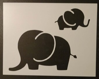 Mom and Baby Elephant Custom Stencil FAST FREE SHIPPING