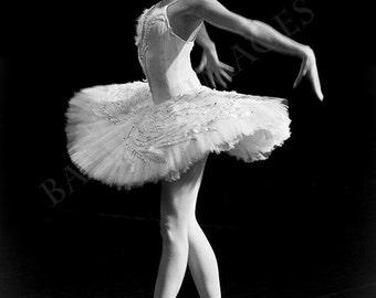 """Ballerina Photo in Black & White, Russian Dancer Performing the Dying Swan in St Petersburg, Russia. Fine Art Print. A4, A3, 13""""x19""""  #5"""