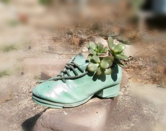 Shoe planter - garden planter  -Succulent planters - flower planter - outdoor planter ,  gift for Gardener -  # 8