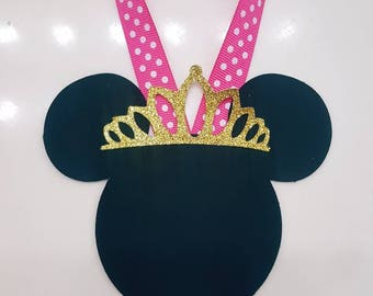 Chalk Candy Station Jar Tags Minnie Mouse