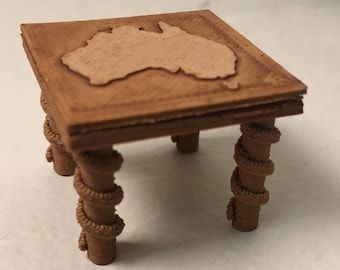 Painted Miniature Wooden Table