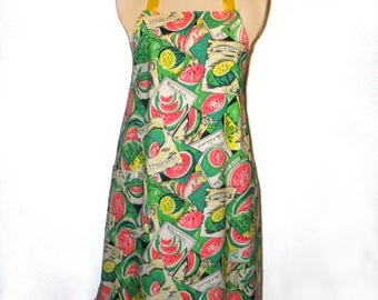 Ladies Apron Watermelons Reversible Baking Cooking Entertaining