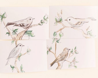 Set of 4 Bird Prints