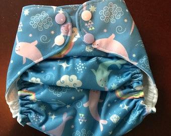 Narwhals Reuasble swim diaper/swimmer/onesize/girls/summer