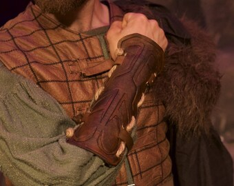 Viking Vambraces - Leather Armor