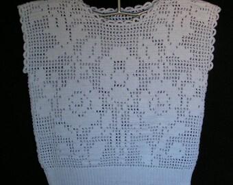 Cotton sweater crochet for women size 42