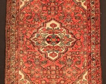 "Vintage Antique  Oriental  ""Herati"" Floral  Rug   5 x  3'-7   ft.//  155 x 110 cm. .    - Sale ! -"