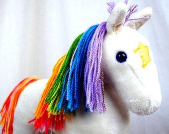 Vintage Starlite 1980s 80s Rainbow Brite's Horse Stuffed Animal