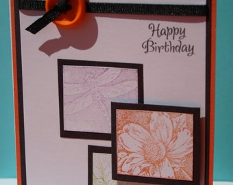 Handmade Birthday Card, Handmade Greeting Card, Handmade Thank You Card,Just Because Card, Handmade Thinking of You card