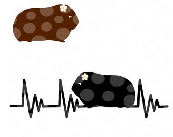 Guinea Pig svg, Cavy svg, cavies, cavy svg file, guinea pig, guinea pig silhouette, small pet svg, rodent svg, hamster svg, hamster