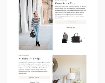 "NEW Wordpress Theme - Wordpress Ecommerce Theme - Fashion Theme - Genesis Theme - ""Pippa"" Instant Digital Download"
