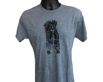 Squirrel T-Shirt, Men's Squirrel Head T-Shirt, Funny Women's Squirrel Screen-Print Tee