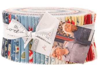 "Ann's Arbor Jelly Roll by Minick & Simpson for Moda Fabrics 40 2.5"" x 42"" Fabric Strips"