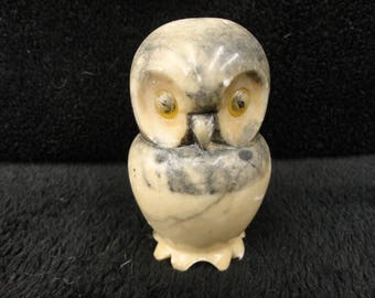 OWL DECOR - MARBLE Owl Paper Weight - Bookend - Home Decor - Owl Sculptor / Figurine / Statue