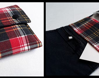 Tobacco black and Red Plaid