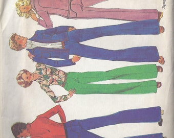 Vintage Simplicity Pattern #7146 1975 Men's Jacket and Pants