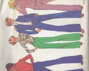 Vintage Simplicity Pattern #7146 1975 Men's Jacket and Pants