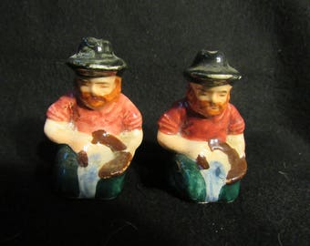Gold Miner Salt and Pepper Shakers (1509)