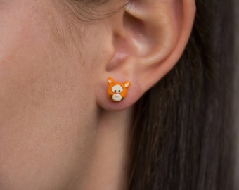 Tigger Stud Earrings from Winnie the Pooh - Handmade Polymer Clay
