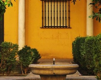 "Fine Art Color Spanish Architecture Photography of Spain - ""Andalusian Fountain"""