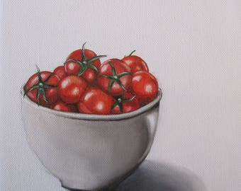 Bowl of Tomatoes- Oil on Canvas