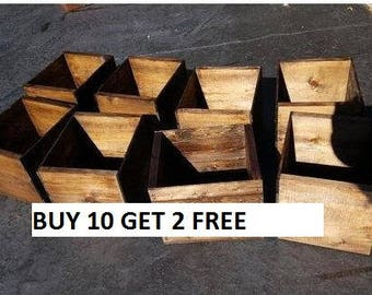 10x8x8 wedding crates , wood boxes , rustic wooden crates , rustic wedding , wedding decor , flower planter , table centerpiece , box