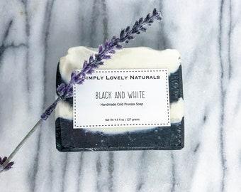 Black and White Soap | Cold Process Soap | Handmade | Natural | Luxury Soap |  Decorative Soap | Homemade | Bar Soap | Moisturizing Soap