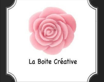 PINK ROSE FLOWER-SHAPED CABOCHON