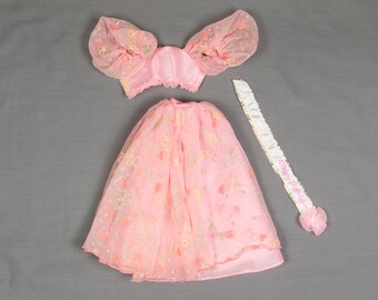 Barbie fashion clothes, 1990 Happy Birthday Barbie dress with ribbon, Excellent condition