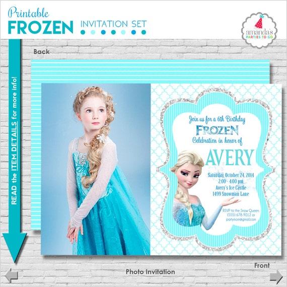 Frozen Birthday Invitation Printable Frozen Party Invitation