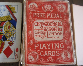 Antique Chas Goodall & Son Playing Cards