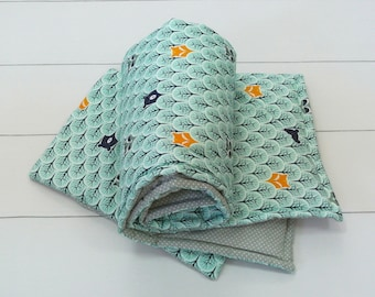 Nursery linen, baby bedding, quilt and pillow, Forest