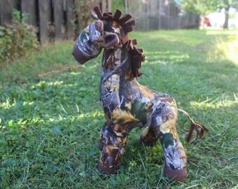 Made to order Brown  camo stuffed giraffe/plushie/nursery decor