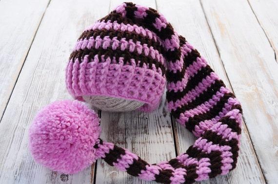 Neugeborene gestrickt Hat. Neugeborenen Haube. Kapuze mit