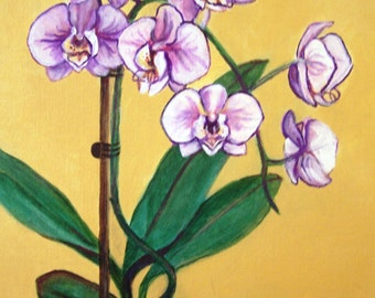 Orchids, 11x14acrylic on canvas board